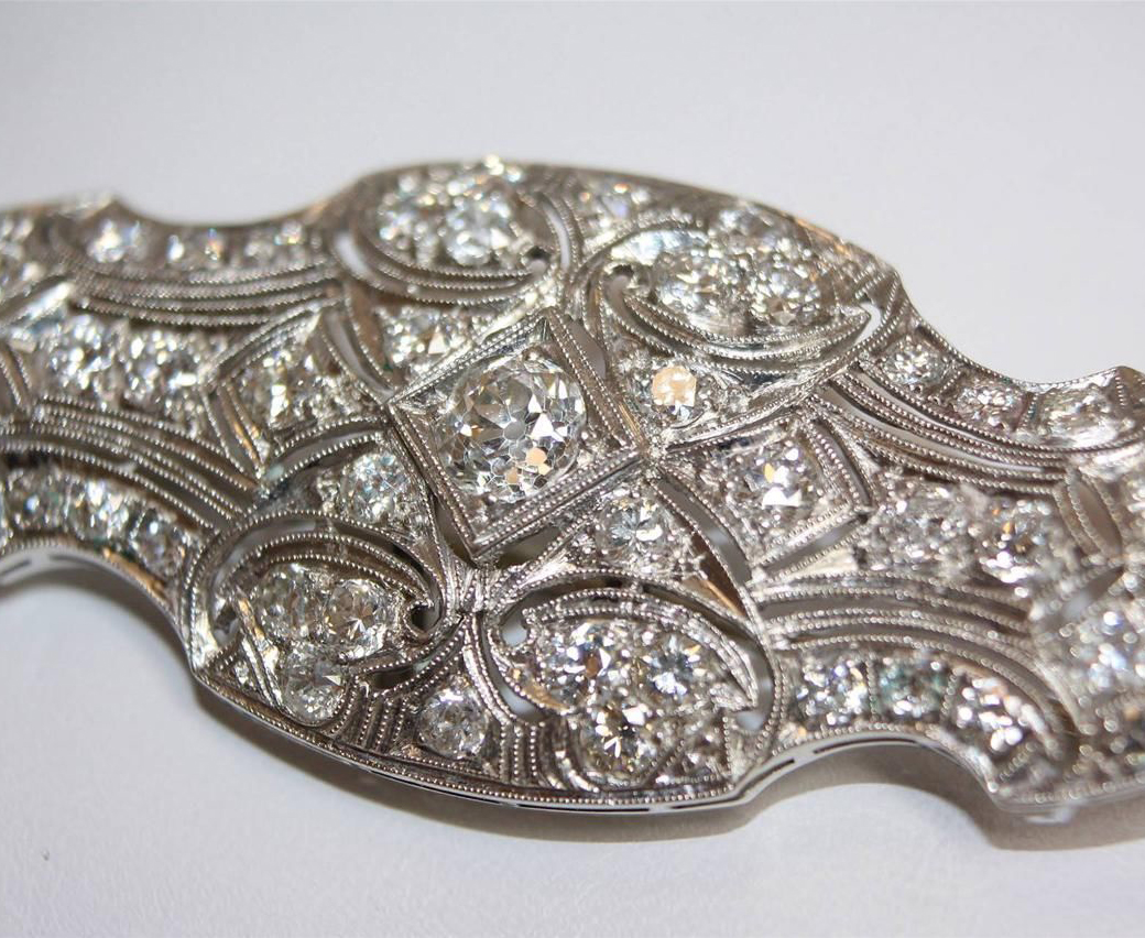 Art Deco Diamond Brooch
