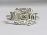5ct Asscher Cut Diamond Ring
