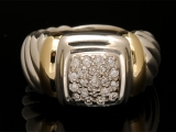 David Yurman Diamond Cable Ring